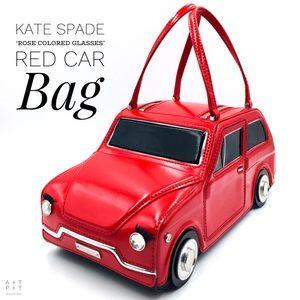 Kate Spade 'Rose Colored Glasses' Red Car Bag